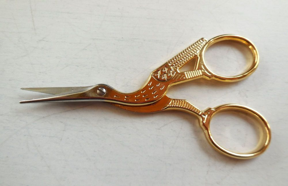 Stork Embroidery scissors (right handed)