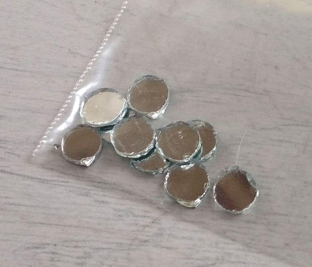 Round Shisha Mirrors (Qty 10, diameter 6mm)