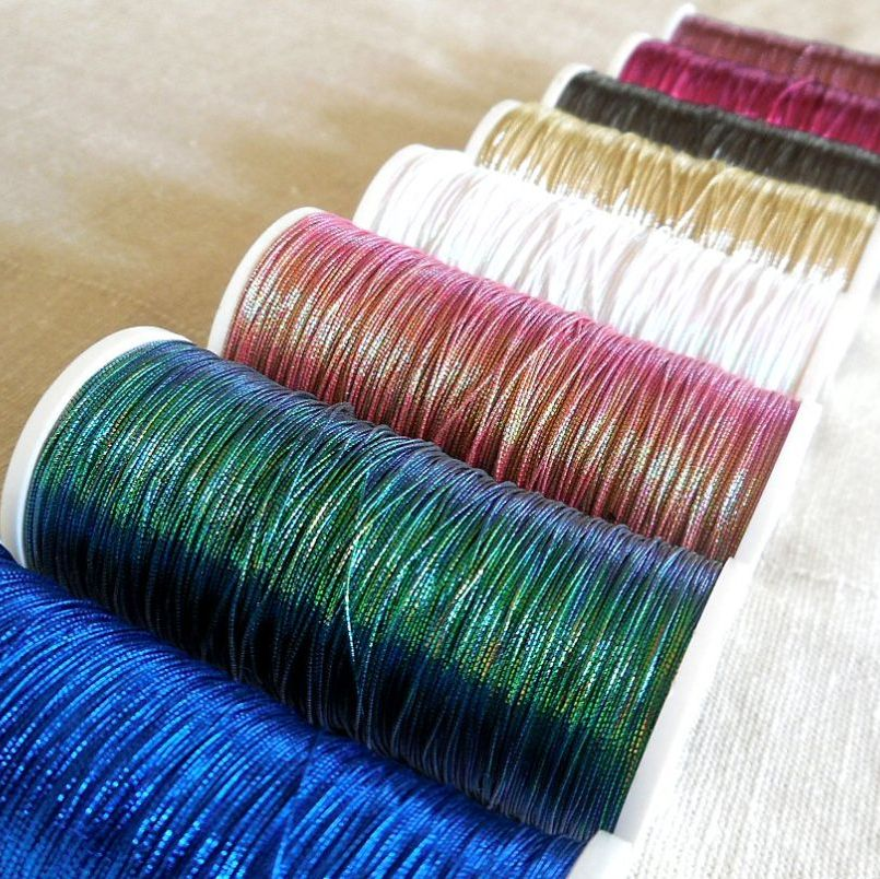 Coloured goldwork threads