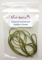 NEW! Coloured smooth purl no.6 - Golden Green