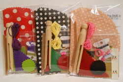 Spotty peg doll kits