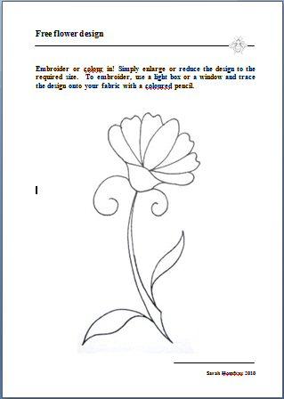 Flower design page