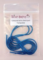 NEW! Coloured Wire check purl no.6 - Turquoise