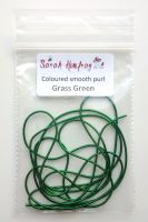 NEW! Coloured Wire check purl no.6 - Grass Green