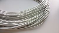 Metal purl wire, 1.2mm, silver colour - 50cm