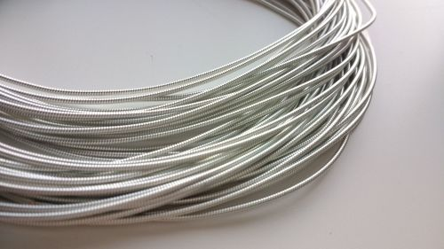 Pearl Purl wire, Silver colour, 1.2mm - 50cm