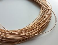 Metal purl wire, 1mm, peach gold colour - 50cm