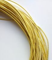 Metal purl wire, 1.3mm, yellow gold colour - 50cm
