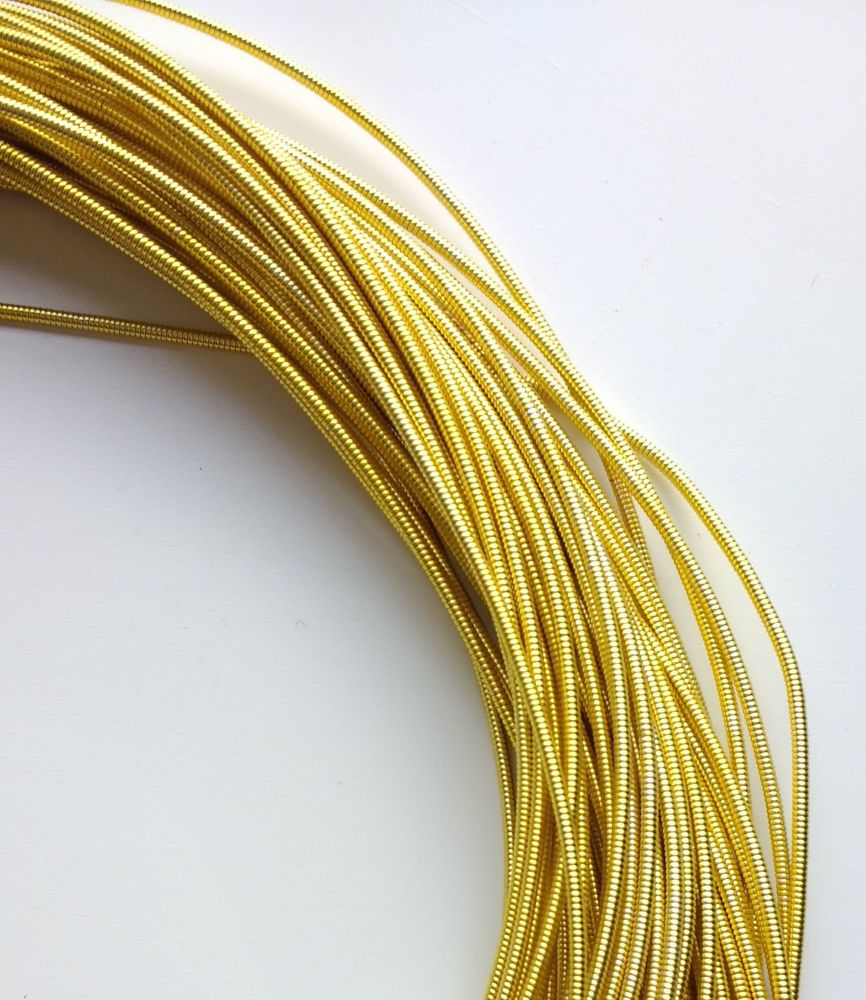 Pearl Purl wire, Yellow gold colour, 1.3mm - 50cm