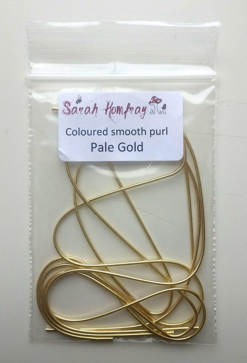 NEW! Coloured smooth purl no.6 - Pale Gold