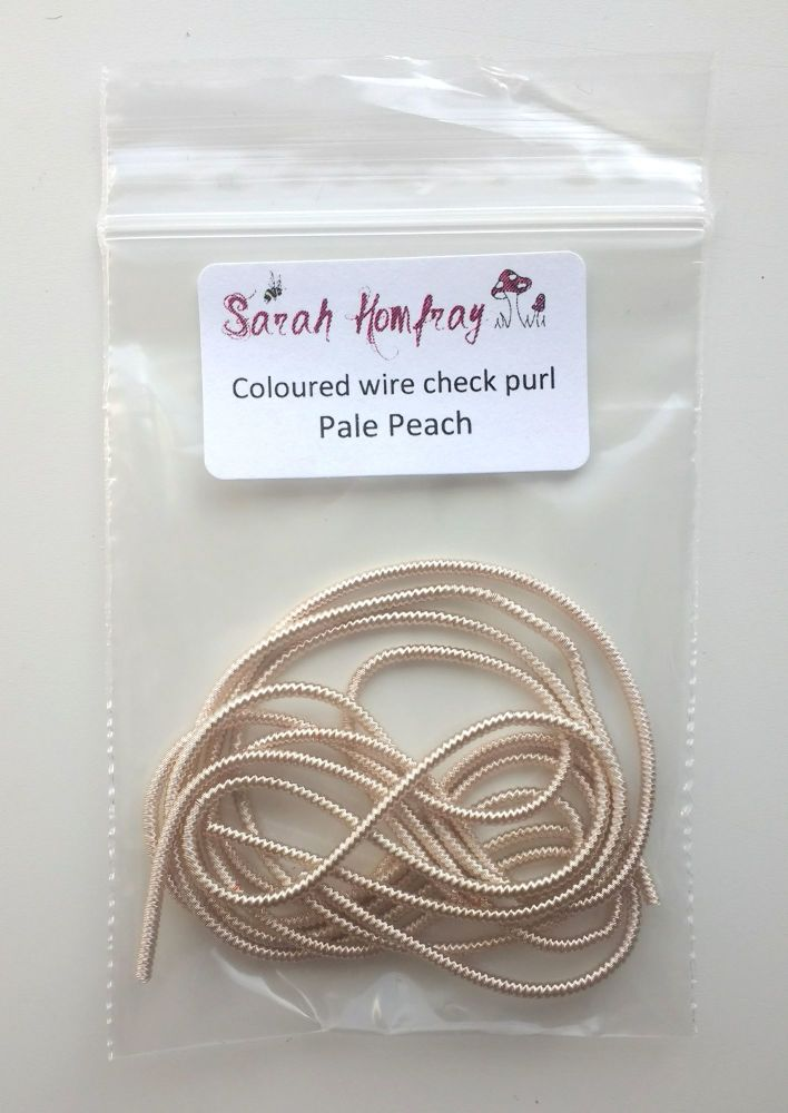NEW! Coloured Wire check purl no.6 - Pale Peach