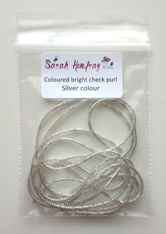 NEW! Coloured bright check purl no.6 - Silver colour