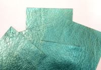 Leather squares, metallic finish - 10cm2 - Sea Green