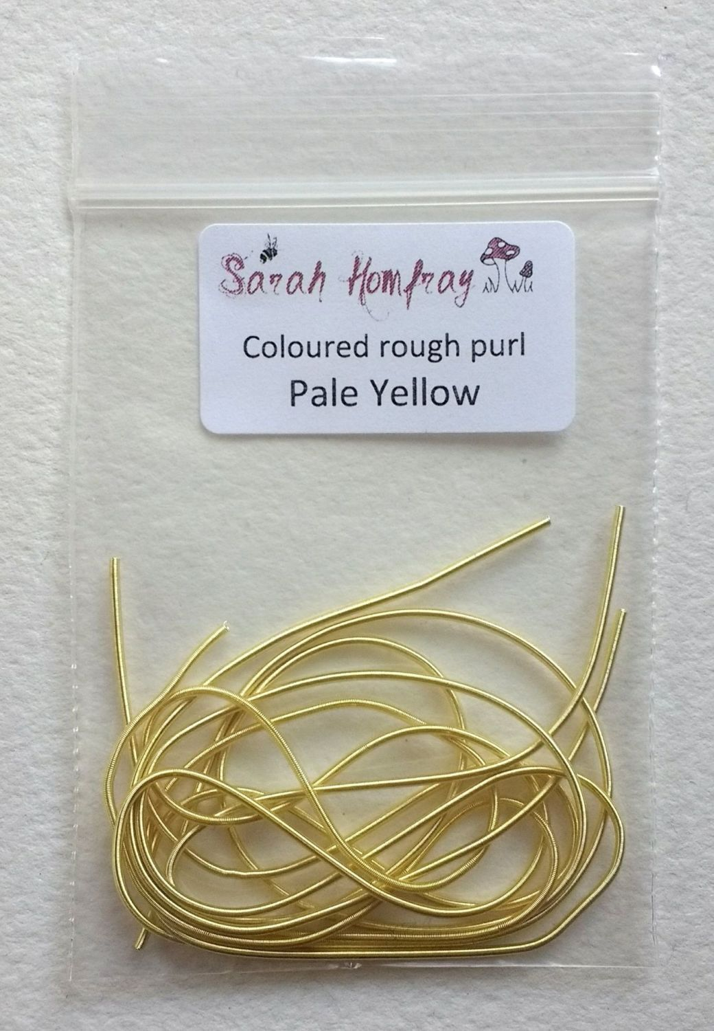 NEW! Coloured Rough purl no.6 - Pale Yellow