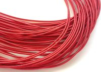 Metal purl wire, 1.2mm, red colour - 50cm