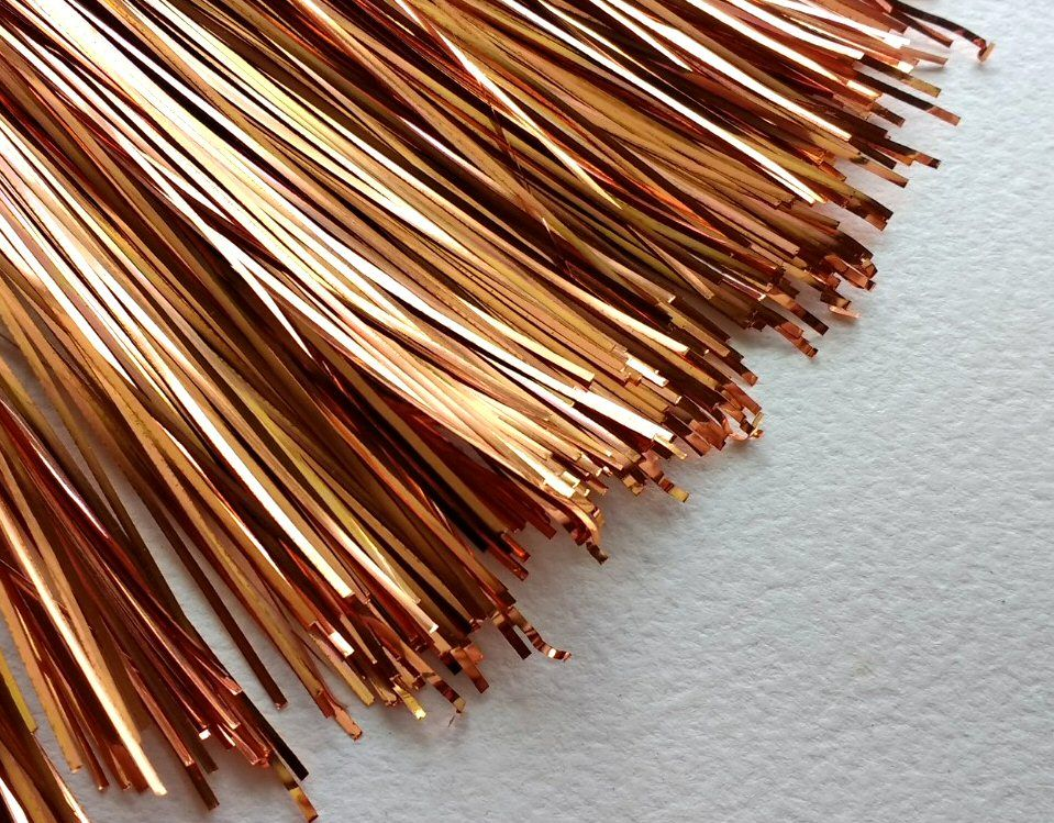 Plate ribbon, Copper Multicolour 1mm