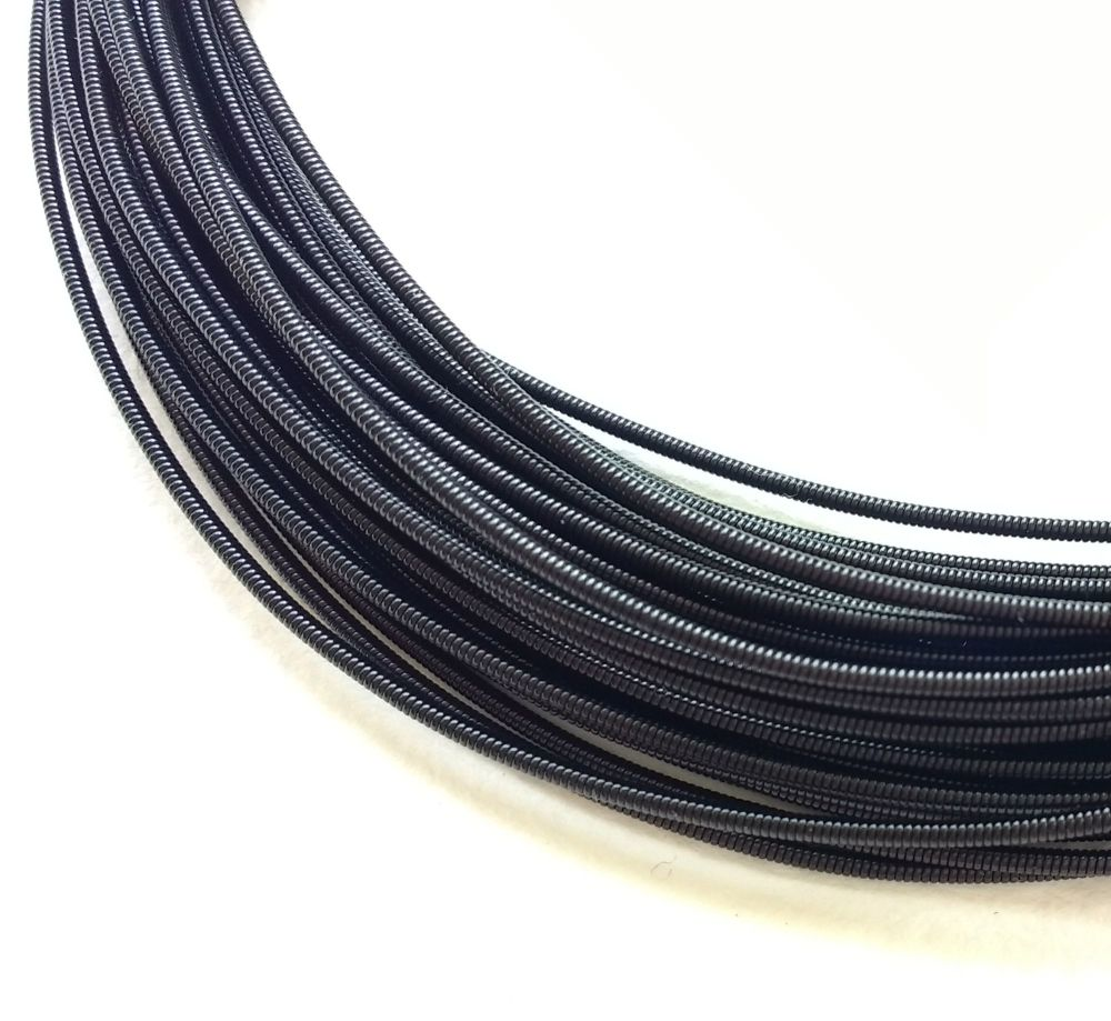 Metal purl wire, 1.2mm, Black colour - 50cm