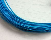 Metal purl wire, 1mm, Turquoise colour - 50cm