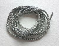 Silver colour 2 ply gimp cord