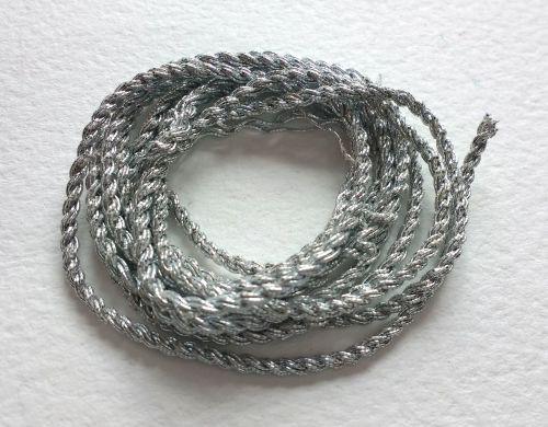 Silver colour 2 ply gimp cord