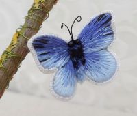 'Holly Blue' Silk shaded stumpwork butterfly kit.