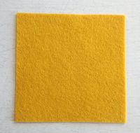 Dark gold felt square 7.5cm x 7.5cm
