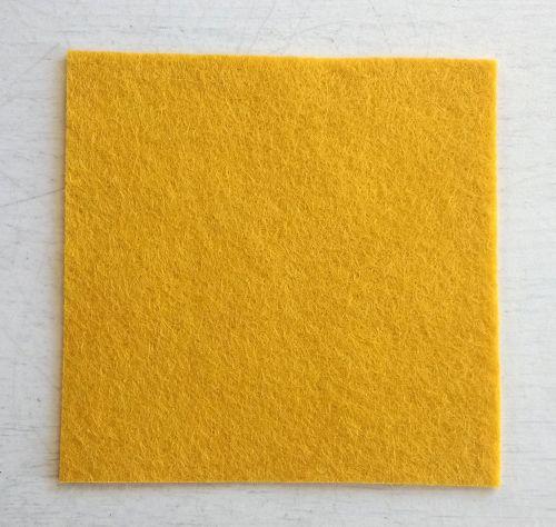 Dark gold felt square 7.5cm x 7.5cm