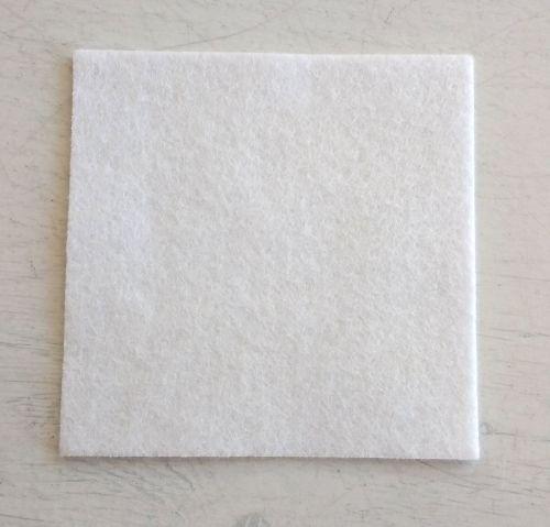 White felt square 7.5cm x 7.5cm