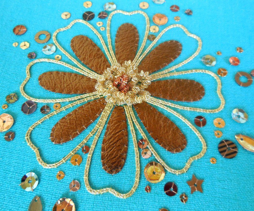 Copper Petals Goldwork Project