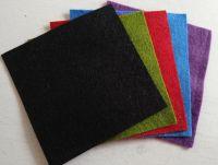Felt square 10cm x 10cm Black