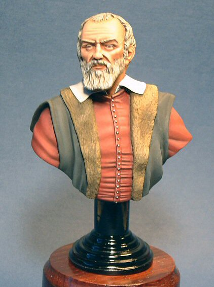 Galileo Galilei. Sculpted and painted by Jon Cheeseman