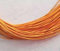 Metal purl wire, 1mm, Orange colour - 50cm