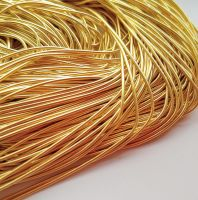 Gilt smooth purl no. 6, 50cm
