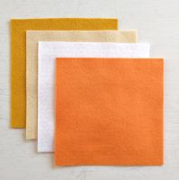 Felt square 10cm x 10cm Orange