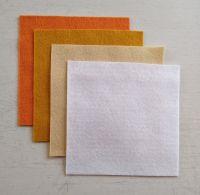 Felt square 10cm x 10cm White