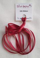 4mm Dark red 281 silk ribbon