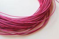 Metal purl wire, 1.2mm, Fuchsia Pink colour - 50cm