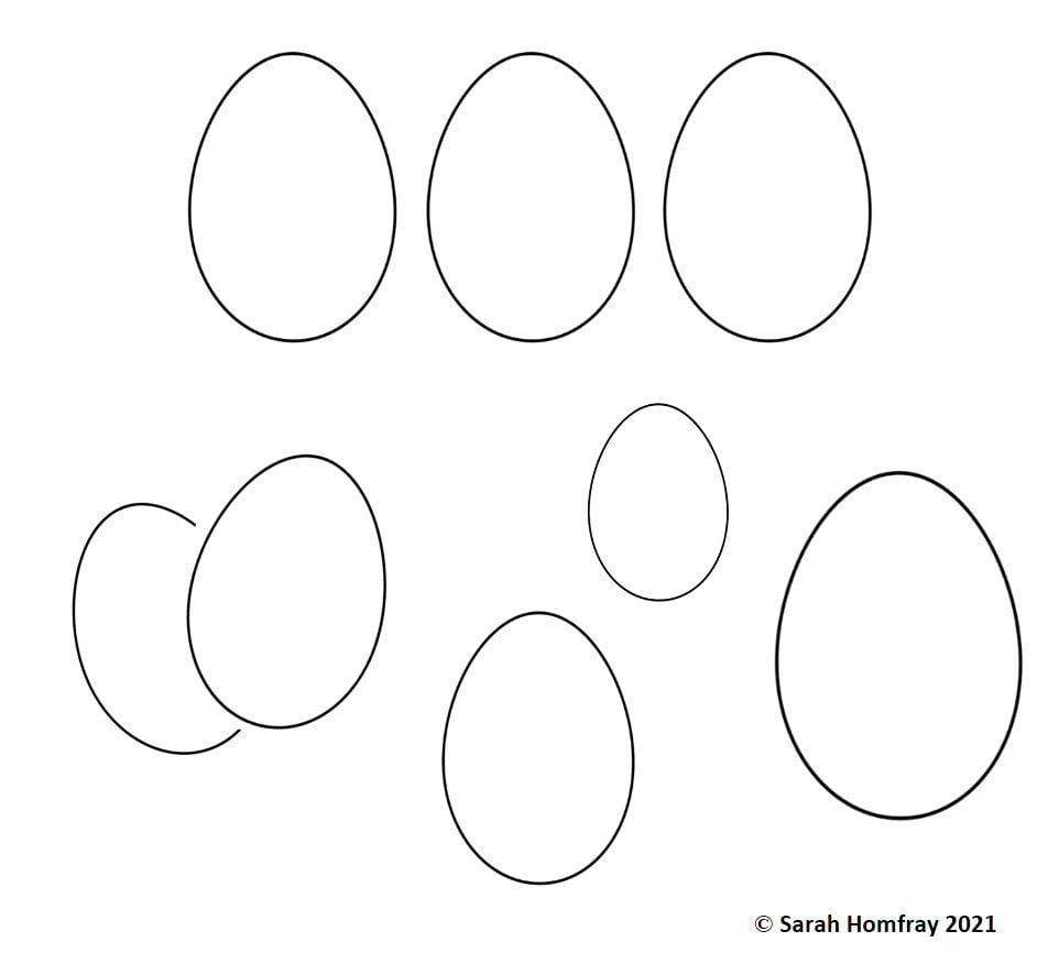 Easter Egg shapes