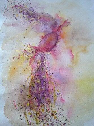 Firebird. Watercolour, 2006