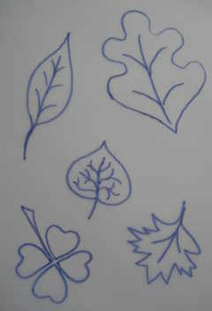 Transfer designs- Leaves