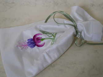 Silk shaded fuchsia bag
