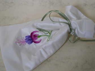 Silk shaded fuchsia bag