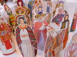 Folk costume dolls