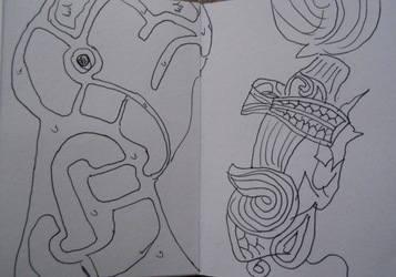 Staffordshire Hoard sketch 2