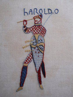'Haroldo', Crewelwork on linen