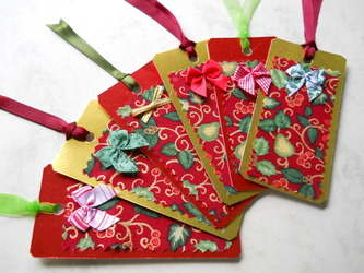 Christmas card tags