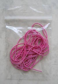 Bag of pink purls