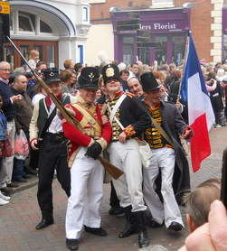 Dickens festival soldiers