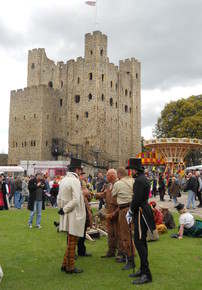 Dickens festival castle