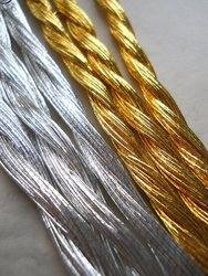 Silver and gold japan thread detail